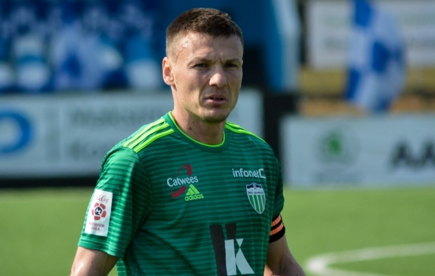 FCI Levadia kapten Dmitri Kruglov. Foto: Edgar Kriisk