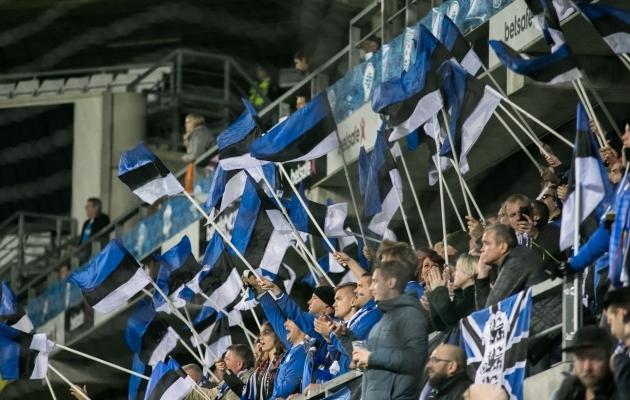 Eesti koondise fännid. Foto: Brit Maria Tael