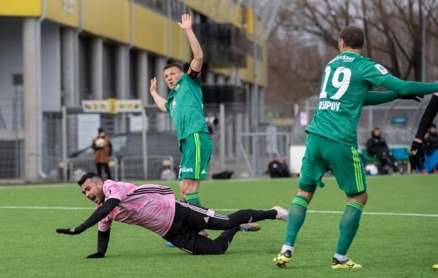Nõmme Kalju ja FCI Levadia on tänavu kohtunud korra, kui superkarikafinaalis sai 3:2 võidu valitsev Eesti meister Kalju. Foto: Liis Troska