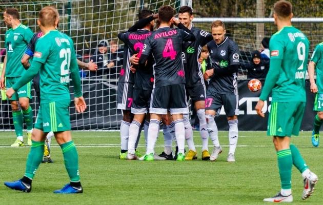 Nõmme Kalju alistas 2:1 FCI Levadia. Foto: Oliver Tsupsman