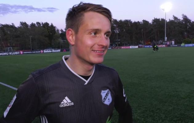 Nõmme Kalju ründav poolkaitsja Kaspar Paur. Foto: Soccernet.ee