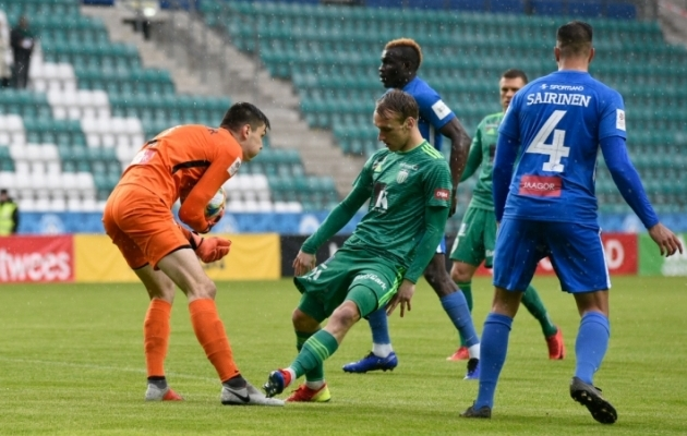 Tallinna FCI Levadia purustas Tartu Tammeka 7:0. Foto: Liisi Troska