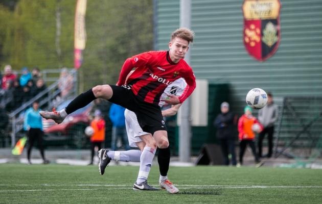 Sander Alex Liit lõi Nõmme Unitedi kolmanda ja otsustava värava. Foto: Brit Maria Tael