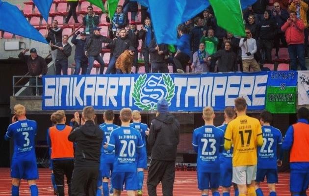Tampere United langes mutta, kuid rühib fännide toel taas jõudsalt liigapüramiidis kõrgemale. Foto: Tampere United / Instagram