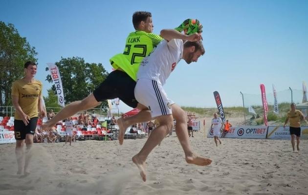 Rannajalgpalli meistriliiga teisel etapil pidi tiitlikaitsja SK Augur Enemat vastu võtma kaks kaotust. Foto: Eesti Rannajalgpalli Liit