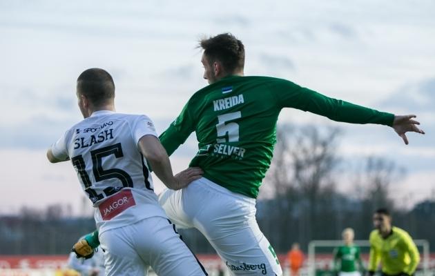 Tartu Tammeka ja FC Flora tänavune esimene mäng lõppes rohevalgete 4:1 võiduga. Foto: Brit Maria Tael