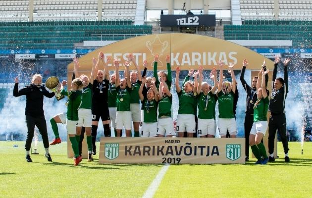 Mullu alistas Flora finaalis just Pärnu JK. Foto: Liisi Troska