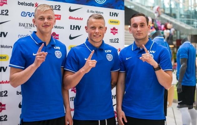 Vlasi Sinjavski, Erik Sorga ja Vladislav Kreida murdsid kõik koondisse. Foto: Brit Maria Tael