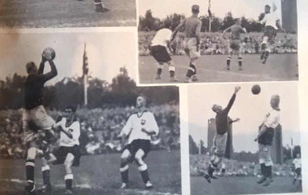 Jäädvustusi mängust. Foto: Kicker, 1937
