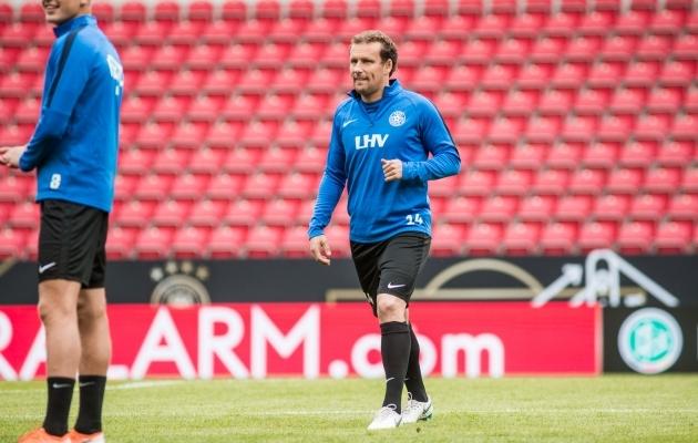 Konstantin Vassiljev alustab. Foto: Jana Pipar / jalgpall.ee