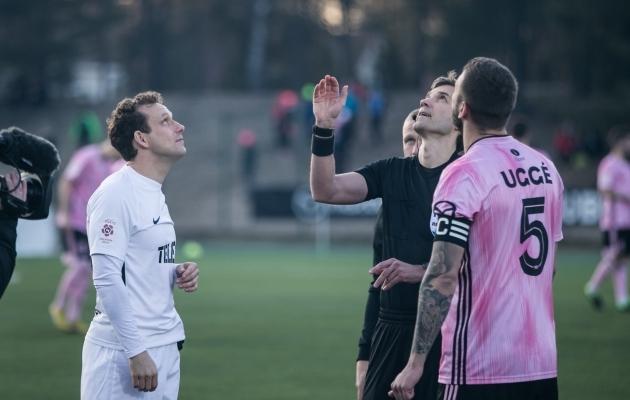 FC Flora ja Nõmme Kalju tänavune esimene duell lõppes rohevalgete 3:0 võiduga. Foto: Brit Maria Tael