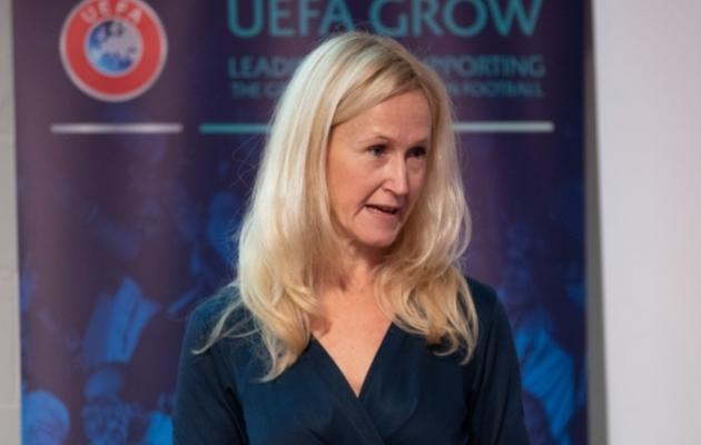Eesti Jalgpalli Liidu peasekretär Anne Rei. Foto: Liisi Troska / Jalgpall.ee