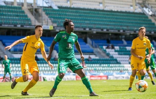 Gando lõi FC Kuressaarele kaks väravat. Foto: Brit Maria Tael