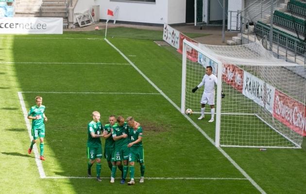 FCI Levadia lõi FC Kuressaarele viis väravat. Foto: Brit Maria Tael