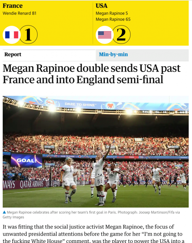 Siin aga Suurbritannia ajalehe The Guardian näide. Foto. kuvatõmmis