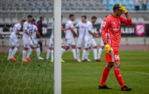 Škendija KF-i võiduvärav nädala eest peetud avamängus sündis 81. minuti penaltist. Foto: Gertrud Alatare