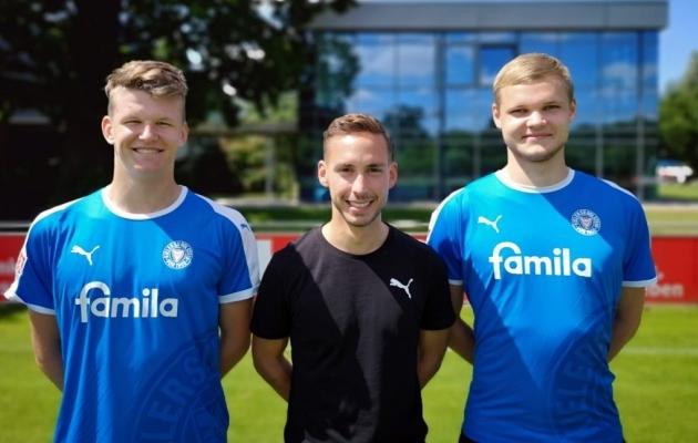 Mattias Männilaan (vasakul) ja Markkus Seppik (paremal). Foto: FC Flora / Holstein Kiel