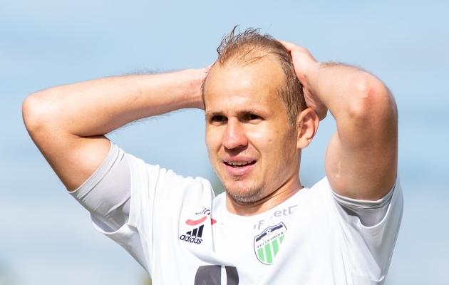 FCI Levadia ründaja Nikita Andrejev. Foto: Liisi Troska