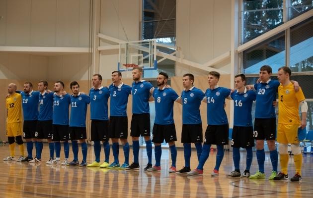 Ssalijalgpalli Eesti koondis. Foto: Liisi Troska / Jalgpall.ee