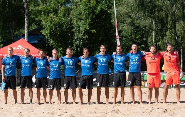 Eesti rannajalgpallikoondis. Foto: Liisi Troska