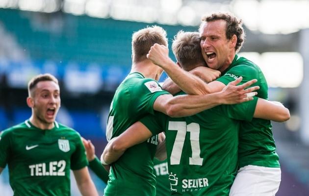 FC Flora alistas avamängus Niši Radnicki 2:0 ja on kordusmängu eel edasipäsu silmas pidades selge favoriit. Foto: Brit Maria Tael