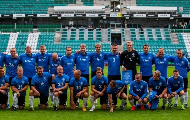 Eesti legendide koondis eelmise aasta mängus Soome vastu. Foto: Gertrud Alatare