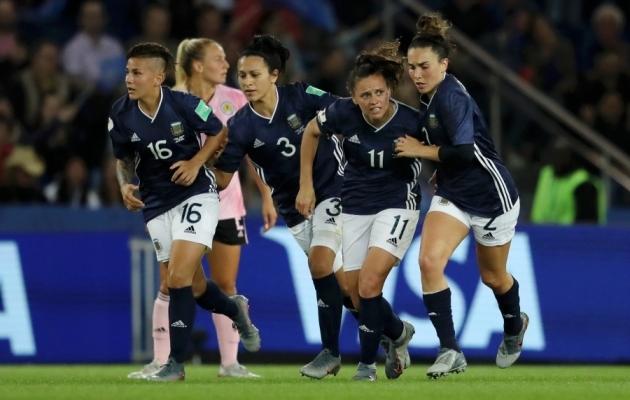 Argentiinlased peale Šotimaale löödud väravat. Foto: Argentina jalgpalliliidu Twitter