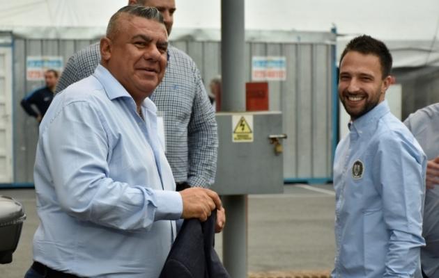 Argentina jalgpalliliidu president Claudio Tapia. Foto: Argentina jalgpalliliidu Twitter
