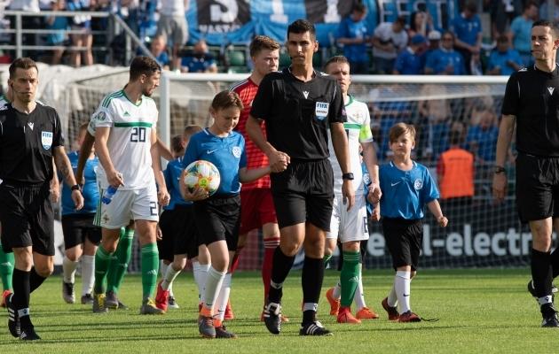 Hiljuti Eestis käinud portugallane Fabio Verissimo vilistab nüüd Eesti klubi mängu. Foto: Liisi Troska