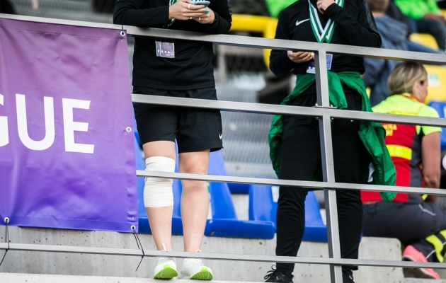 Strigin (vasakul) käis viimasel mängul ringi omal jalal. Foto: Brit Maria Tael