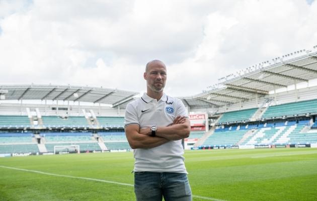 Eesti jalgpallikoondise peatreener Karel Voolaid. Foto: Brit Maria Tael