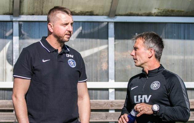 Vjatšeslav Zahovaiko ja A-koondise endine peatreener Martin Reim. Foto: Brit Maria Tael