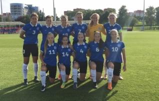 Tüdrukute U17 koondis sai Valgevenes suurelt lüüa