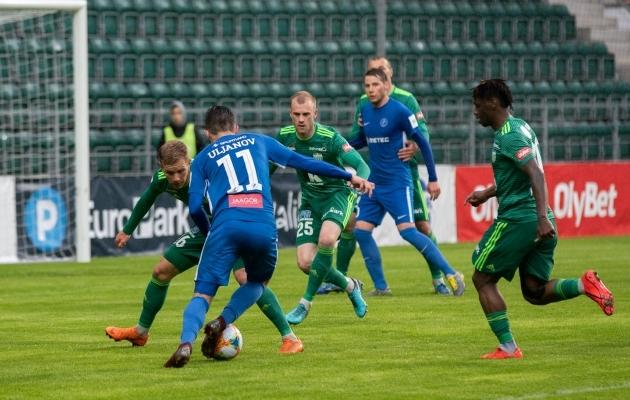 Premium liiga 26. vooru avab Tartu Tammeka ja FCI Levadia duell. Foto: Liisi Troska