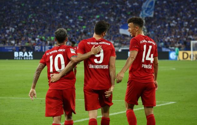 Vasakult Coutinho, Robert Lewandowski ja Perišic. Foto: Bayerni Twitter