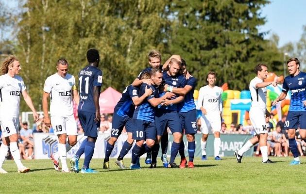 Paide Linnameeskond mängis täna FC Floraga 1:1 viiki. Foto: Liisi Troska / jalgpall.ee