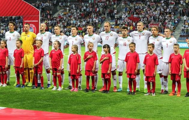 Valgevene jalgpallikoondis kohtub reedel Eestiga. Foto: Valgevene jalgpalliliidu Twitter