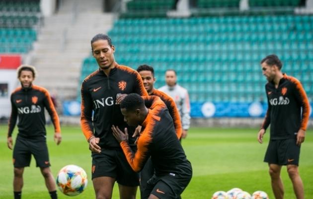 Hollandi jalgpallikoondise eilne treening A. Le Coq Arenal. Foto: Brit Maria Tael