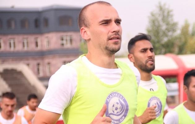 FC Alaškerti keskkaitsja Nikita Baranov. Foto: FC Alaškert