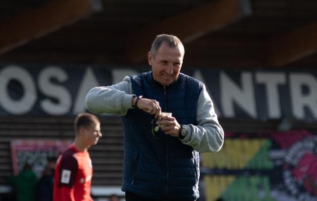 Narva Transi peatreeneri kohusetäitja Oleg Kurotškin. Foto: Liisi Troska / jalgpall.ee