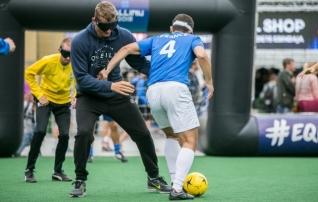 Oktoobris peetakse pimedate jalgpalli näidismäng