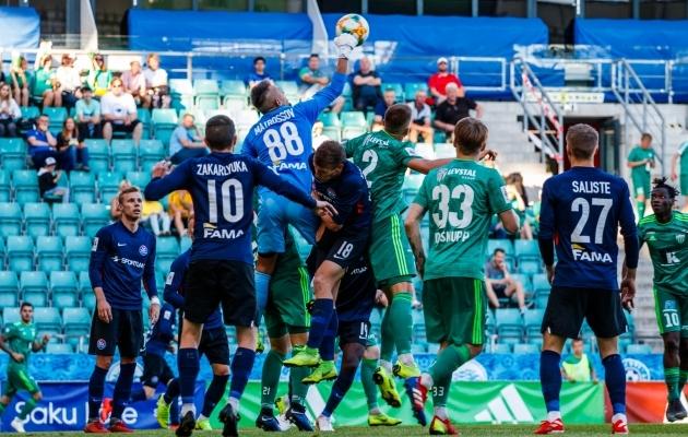 Kui FCI Levadia sel hooajal esimest korda Narva Transi võõrustas, saavutas pealinnaklubi 2:0 võidu. Foto: Oliver Tsupsman
