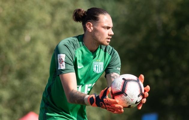 FC Flora väravavaht Matvei Igonen. Foto: Liisi Troska / jalgpall.ee