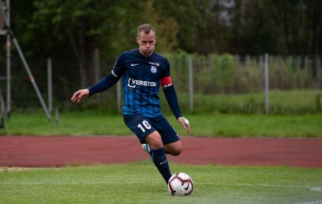 Paide Linnameeskonna kapten Andre Frolov. Foto: Liisi Troska / jalgpall.ee