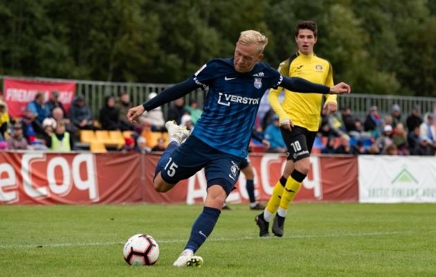 Sander Sinilaid tegi ülekaalukalt kõige rohkem lööke raamide vahele ja ka pealelööke kokku. Foto: Liisi Troska / Jalgpall.ee