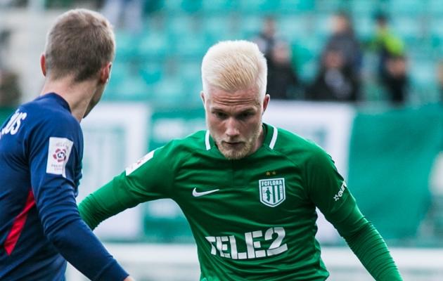 FC Flora vasakkaitsja Henri Järvelaid. Foto: Brit Maria Tael