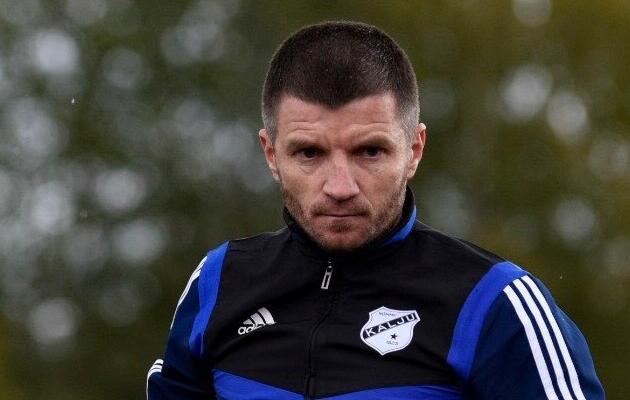 Nõmme Kalju peatreener Roman Kožuhhovski. Foto: Liisi Troska / jalgpall.ee