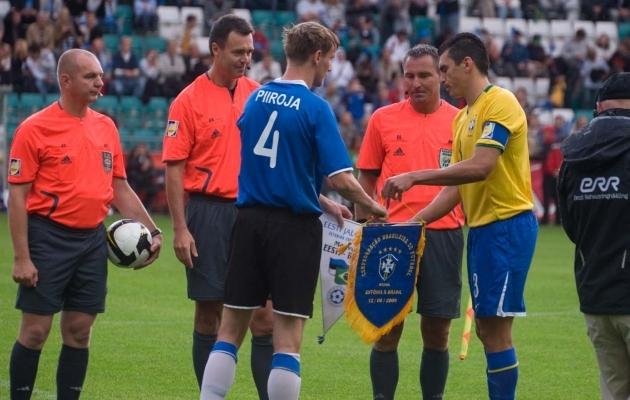 2009. aastal käis Lucio Brasiilia koondisega Eestis, kust lahkuti 1:0 võiduga. Foto: Heiki Rebane (arhiiv)