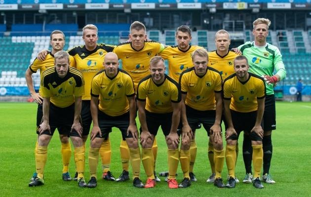 Kolmanda liiga lõuna tsooni võitja FC Otepää sammu teise liigasse ei teinud. Foto: Liisi Troska