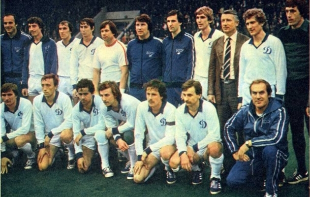 1982. aastal Valgevenele ainsa Nõukogude Liidu meistrikulla toonud meeskond. Foto: Minski Dinamo koduleht